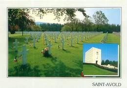 Cpsm -    Saint Avold -   Cimetière Militaire Amèricain , Chapelle Mémorial        Y71 - Saint-Avold