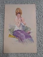 Cpa Illustrateur Signé Femme Frau Lady - Illustrators & Photographers