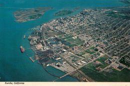 1 AK USA California * Blick Auf Die Stadt Eureka - Mit Den Vorgelagerten Inseln Indian Island U. Woodley Island Luftbild - Stati Uniti