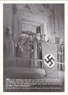 """III. Reich, """" Adolf Hitler In Linz Am Tage Seiner Heimkehr, Am Balkon Rathaus """", Feldpopst, 2. KRIEGS - WHW - Weltkrieg 1939-45"""