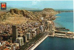 Alicante Belle Vue Aérienne Le Port L'Esplanade D'Espagne - Alicante