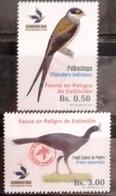 Bolivia 2018 ** CEFIBOL 2314-15 (Emision 2017 ECOBOL #2298-9) Fauna Phibalura Boliviana - Paujil Unicornis), En Peligro - Bolivia