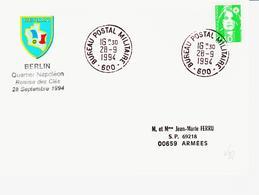 France,  Cachet  à Date BPM N°600   Fermeture Du B P Le 30/09/1994 à BERLIN TB - Marcophilie (Lettres)