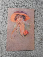 Cpa Illustrateur Non Signé Femme Frau Lady - Künstlerkarten