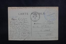 """FRANCE - Cachet """"Détachement De Prisonniers De Guerre"""" De St Pierre Des Ormes Sur CP En 1917 En FM Pour Le Mans- L 52135 - Marcophilie (Lettres)"""