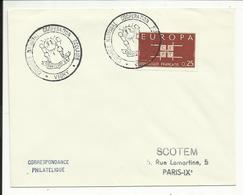 LETTRE , CONGRES NATIONAL COOPERATION SCOLAIRE , VICHY , Timbre EUROPA - Marcophilie (Lettres)