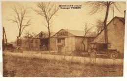 Carte Postale Ancienne- Montigny ( Cher) - Garage Pichon -1934 - Autres Communes