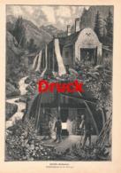 1705 Schlegel Steiermark Eisengießerei Druck 1885 !! - Stampe