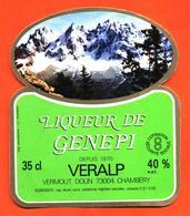 étiquette De Liqueur De Génépi Veralp Dolin à Chambéry - 35 Cl - Etiquettes