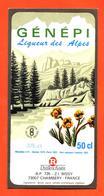 étiquette De Liqueur De Génépi Liqueur Des Alpes Routin à Chambéry - 50 Cl - Etiquettes