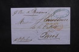PEROU - Lettre De Lima Pour Paris En 1850 Via Callao , Cachet D'entrée Par Calais - L 52145 - Peru
