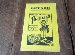 Buvard Chocolat De La Cie Des Antilles - Chocolat