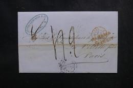 PEROU - Lettre De Lima Pour Paris En 1852 Via Callao , Cachet D'entrée Par Calais - L 52146 - Peru