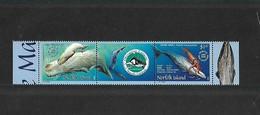 BLOC TIMBRES ISLAND NORFOLK  NEUF- 2002 -  OPERATION CETACES Avec NOUVELLE CALEDONIE - YVERT 755-756 - Ile Norfolk