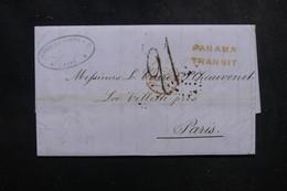 PEROU - Lettre De Lima Pour Paris En 1854 Via Panama, Cachet D'entrée Par Calais - L 52147 - Peru