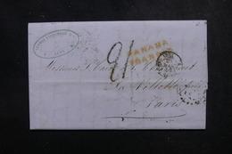 PEROU - Lettre De Lima Pour Paris En 1854 Via Panama, Cachet D'entrée Par Calais - L 52148 - Peru