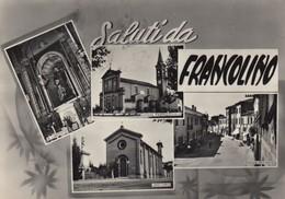 Emilia Romagna - Ferrara  - Francolino - Saluti Da .. -  4 Vedute   - F. Grande - Anni 50 - Bella - Italia