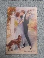 Cpa Illustrateur  Signé Femme Frau Lady Cheval Horse - Illustrators & Photographers