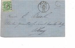 SH 0312. N° 30 Los Pts 393 + BOÎTE RURALE AX Sur LAC Datée De WAVRE Le 20 NOV 70 Vers Huy. - 1869-1883 Léopold II