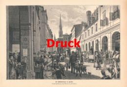 1719 Wilhelm Geißler Mühlendamm Berlin Druck 1885 !! - Stampe