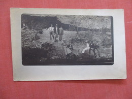 RPPC  TO ID  Group Photo Standing On Rocks  Ref  3873 - Postcards