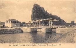 ¤¤   -   SAINT-VELERY-sur-SOMME   -   Pont-Levis Et Avenue Carnot  -  Café Des Ecluses   -   ¤¤ - Saint Valery Sur Somme