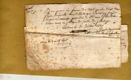 2 Pièces Manuscrites Bon Pour La Somme... Dame Fourteau Payé 3/08/1835 - Idem ... Jean-Batiste Fourteau  & Bernard... - Manuscrits
