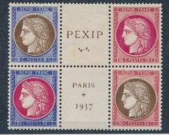 DI-272: FRANCE: Lot Avec  Le Bloc Cental  348/351* (gomme 2ème Choix) - Ongebruikt