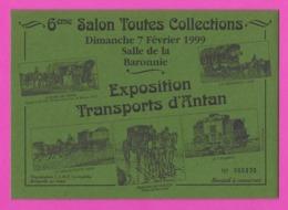Buvard.  Salon Collections 1999 à Bretteville Sur Odon (14).   Exposition Transports D'Antan. - Transports