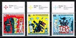 Bund 2020,Michel# 3522 - 3524 ** Für Die Wohlfahrt: Die Sieben Geißlein - Ongebruikt