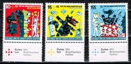 Bund 2020,Michel# 3522 - 3524 ** Für Die Wohlfahrt: Die Sieben Geißlein - BRD