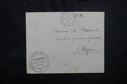 MAURITANIE - Enveloppe En FM De Bir Maghrein Pour Alger En 1940 - L 52166 - Mauritania (1906-1944)
