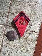 Lot 54e Régiment D Artillerie Nord Africains, France 1940, Patte De Col Officier, Plaque D Identité - 1939-45