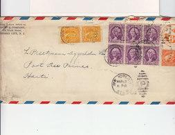 Enveloppe Swift Company Jersey City. Entier Postal US Postage Air Mail 8 Timbres USA Oblitérés New York 1936 . (2648x) - Postal Stationery