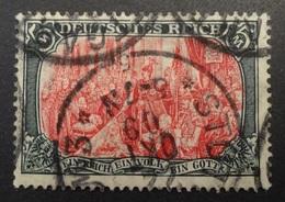 Allemagne: Yvert N° 95b (Fondation De L'Empire, 1905-1911, 26 Perforations Horizontales) Oblitéré - Oblitérés