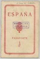 Passeport Espagnol Valable Pour La France. España. Pasaporte. Délivré à Tarragona En 1932. Maestra Nacional. - Documents Historiques
