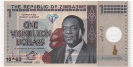 Zimbabwe, 1 Vigintillion Dollars, Polymer Banknote. - Zimbabwe
