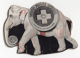 WOOD MILNE SPECIAL  IMPORTE D ANGLETERRE  CARTON REPRESENTANT UN ELEPHANT - Plaques En Carton