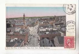 CPA Etats Unis MA - Birds Eye View Of Worcester :  Achat Immédiat - (cd026 ) - Worcester