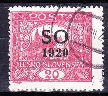 Tchécoslovaquie-Silesie Orientale 1920 Mi 8D (Yv 23), Obliteré, Dentelé 13 1/2:13 3/4 - Gebruikt