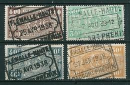 TR 160 + 164/166 Gestempeld FLEMALLE HAUTE- RACCORT PHENIX - Chemins De Fer