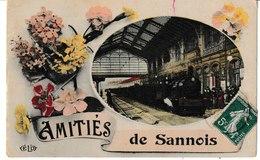 Val D'Oise Amitiés De SANNOIS (train Entrant En Gare) - Sannois