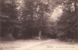 78 Velizy Carrefour Du Trou Aux Gants Cpa Carte Animée Cachet 1933 - Velizy