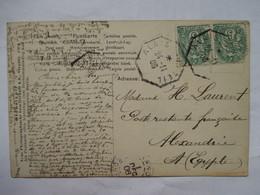 CONVOYEUR    ALAIS  AU  TEIL    -   JEUNE  FEMME  ET  COLOMBE       TTB - Marcophilie (Lettres)