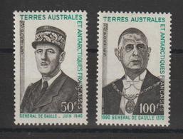 TAAF 1972 C De Gaulle 46-47 2 Val ** MNH - Ungebraucht