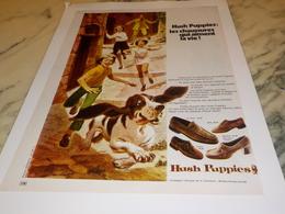 ANCIENNE PUBLICITE CHAUSSURE HUSH PUPPIES 1971 - Autres