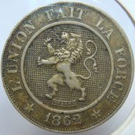 LaZooRo: Belgium 10 Centimes 1862 XF - 1831-1865: Leopold I