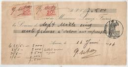 CORSE Chèque De Banque LANZI FRERES AJACCIO 1916 - Chèques & Chèques De Voyage