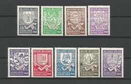 Belgium 1941 Winterhulp - Secours D'hiver OCB 547/555 ** - België