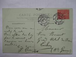 CONVOYEUR   TARASCON  A  CETTE    B     -    MONT  DORE      PLI - Marcophilie (Lettres)